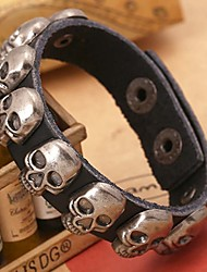 Vintage Skull Rivets Leather Bracelets