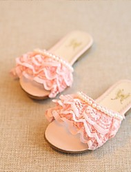 Girls' Shoes Casual Slippers Lace Slippers Blue / Pink / White