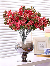 bébé fleurs à couper le souffle de soie fleur de soie fleurs artificielles rose foncé pour la décoration maison 1pc / set