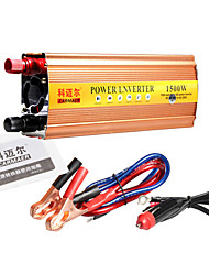Carmaer Power Inverter 1500W 12V24V to 220V with USB