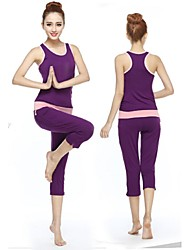 Yoga Suit Sports Causal Running Vest Fitness Pants Yoga Wear Sports Suits Gear Suits=Vest + Trousers