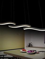 projeto ondulado 40w moda levou luzes pingente de acrílico simples sala / quarto / sala de jantar / sala de estudo / escritório