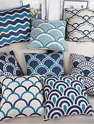 Pillow Case Blue and white porcelain Retro Home Decorative Cotton Linen Blended Crown Throw Comfortable Back 9 colors