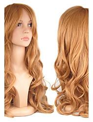 europäischen Stil Mode Schönheit Cosplay lockige braune Farbe synthetische Haarperücken
