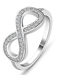 925 Sterling Silver Women Jewelry Fashion High Quality 8-shaped Rings with Diamonds Perfect Gift For Girls