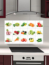 Removable Kitchen Oilproof Wall Stickers with Vegetable And Fruit Style Water Resistant Home Art Decals