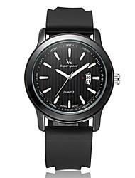 V6® Men's Fashion Date  Analog Display Rubber Band Quartz Watch Cool Watch Unique Watch
