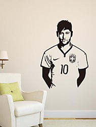 Home Decoration Vinyl Neymar Da Silva Soccer Wall Sticker Removable House Decor Famous Football Player Decal