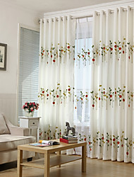 Colourful Embroidered Coccinellidae Curtain (Two Panel)