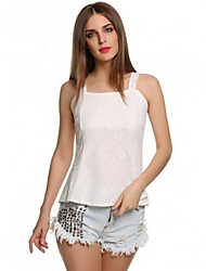 Women Low-Cut Tank Top Bodycon Lace Floral Tunic Sleeveless Tank Top
