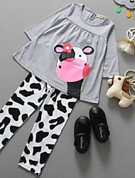 Girl's Clothing Set,Cotton Spring Gray