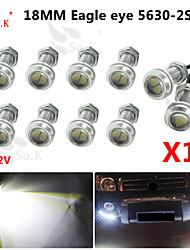 10 x 9w conduit l'œil d'aigle brouillard de voiture lumière diurne DRL inverser le signal de stationnement de sauvegarde