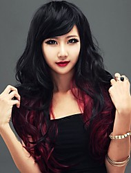 European Capless Ombre Long High Quality Curly Synthetic Hair Wigs