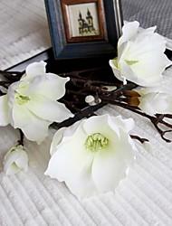 Soie Magnolia Fleurs artificielles