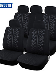 AUTOYOUTH New Looped Fabric Full Car Seat Cover Universal Fit Most Brand Vehicles Seat Covers Black Car Seat Protector
