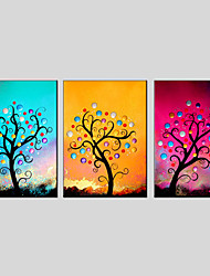 Flower Style Canvas Material Oil Paintings with Stretched Frame Ready To Hang Size 70*50CM*3PCS