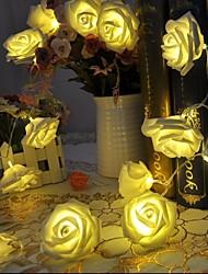 20 geleid batterij roos bloem lichtslingers bruiloft kerst xmas decoration