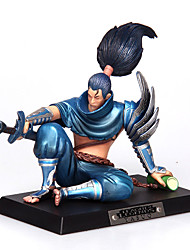 League of Legends Yasuo pvc do anime unforgiven12cm figuras de ação boneca modelo de brinquedos