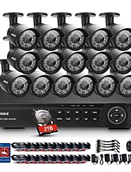 annke® 16CH 2mp 1080p hdmi dvr 2TB HDD Outdoor-Home-Video-Überwachungskamera-System
