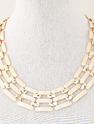 Necklace Choker Necklaces / Chain Necklaces Jewelry Party / Daily / Casual Fashion Alloy Gold / Silver 1pc Gift