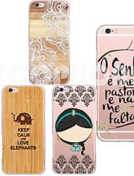 maycari®girl tpu transparent doux retour cas pour iphone 6 / 6s (couleurs assorties)