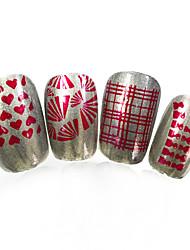 3pcs nieuwe 12x6cm image diy stamping platen nail art templates stencils voor polish xy-L10 (01-32) willekeurige aflevering