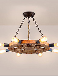 Nostalgic restaurant iron resin Chandelier