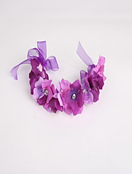 Women's / Flower Girl's Tulle / Fabric Headpiece - Wedding / Special Occasion / Casual Wreaths 1 Piece