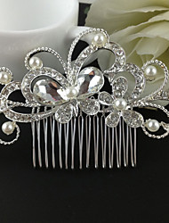 Silver Crystal Butterfly Hair Comb for Wedding Party Hair Jewelry