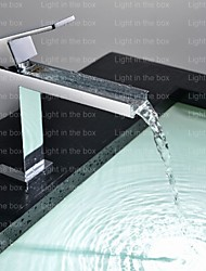 Shower Faucet / Bathtub Faucet / Bathroom Sink Faucet - Contemporary - Waterfall - Brass (Chrome)