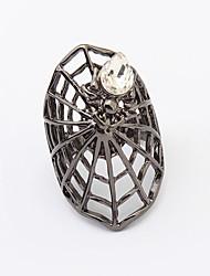 Anéis Pesta / Diário / Casual Jóias Liga / Vidro Feminino Anéis Grossos 1pç,8 Dourado / Preto / Prateado