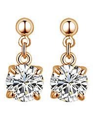 Pendientes colgantes Cristal Zirconia Cúbica La imitación de diamante Legierung Estilo Simple Plata Oro Rosa Joyas 2 piezas
