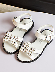 Girls' Shoes Casual Comfort Faux Leather Sandals Black / Pink / White