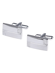 Rectangular Fashion Cuff Links Jewelry Gifts Men's Cuff Button (1 pair)