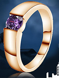 Band Rings Brass Zircon Cubic Zirconia Fashion Classic White Purple Pink Jewelry Party 1pc