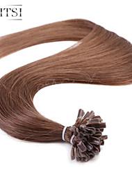 """neitsi 20 """"1g / s 50g queratina u fusão ponta do prego retas ombre extensões de cabelo humano 6 #"""