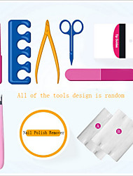 9Pcs Professional Manicure Tools Kit Rectangular Nail Files Brush Nail Art Accessories Styling Tools(Random Color)