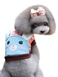 Dog Shirt / T-Shirt Blue / Pink Dog Clothes Spring/Fall Animal / Polka Dots Fashion