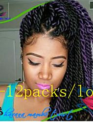 #2 / n ° 4 / #27 / #30 / Gris / Bleu / Violet / punaise / #1B La Havane Tresses Twist Extensions de cheveux 12-24inch Kanekalon 2 Brin