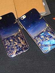 Pour Coque iPhone 6 Coques iPhone 6 Plus Etuis coque Motif Coque Arrière Coque Paysage Urbain Flexible PUT pouriPhone 6s Plus iPhone 6
