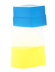 branca nova de silício de flash flexível salto difusor softbox + amarelo + azul para Canon 430EX / 430EX II