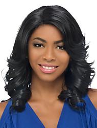 Long Length Wave Hair European Weave Light Black Color Hair Wig