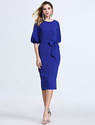 Women's Sexy Casual / Work / Party / Holiday / Club Slimming Dress with Belt