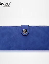 Bolso de Mano / Cartera / Minibolso de Mano / Bolso de Maquillaje / Portacheques / Portadinero - Doble Pliegue - PU - Azul / 8 # - Mujer