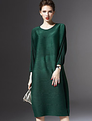 Women's New Style Batwing Loose Pullover Medium Style Dresses