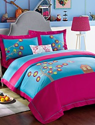 Embroided Pattern Bedding Sets Queen King Size Bedcover