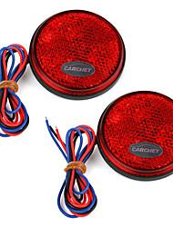2 x carchet ampoule rouge feu arrière ronde de queue d'arrêt de frein de voiture haute puissance
