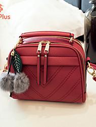 M.Plus® Women's Fashion Plaid PU Leather Messenger Shoulder Bag