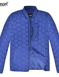 Lesmart Hombre Escote Chino Manga Larga Abajo y abrigos esquimales Azul / Negro - PL15131