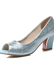 Women's Shoes Nappa Leather Stiletto Heel Platform / Slingback / Gladiator / Comfort / Novelty / Round Toe /